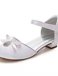 cheap -Girls' Mary Jane Satin Heels Little Kids(4-7ys) / Big Kids(7years +) Bowknot White / Ivory Spring / Party & Evening