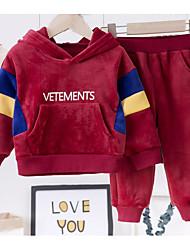 cheap -Baby Boys' Basic Print Long Sleeve Regular Clothing Set Black