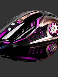 Недорогие -LITBest T02 Проводной USB Оптический Gaming Mouse / Эргономичная мышь Многоцветная подсветка 4800 dpi 4 Регулируемые уровни DPI 6 pcs Ключи