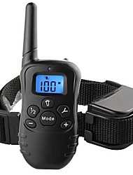 cheap -Dog Training Training Anti Bark Collar Shock Collar LCD Display Remote Controlled Wireless Dog Reflective Waterproof Portable Leather Silicone Plastic Clickers Electronic Behaviour Aids For Pets