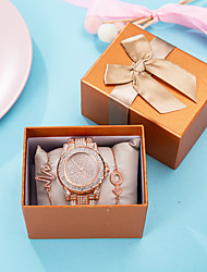 cheap -Women's Quartz Watches Luxury New Arrival Rose Gold Stainless Steel Chinese Quartz Rose Gold Chronograph Cute Adorable 3 Pieces Analog One Year Battery Life