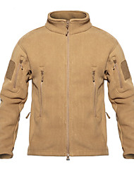cheap -Men's Hunting Fleece Jacket Outdoor Thermal / Warm Wearproof Comfortable Spring Fall Winter Terylene Flannel Black Army Green Grey