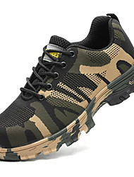 cheap -Men's Comfort Shoes PU Fall & Winter Athletic Shoes Running Shoes Camouflage Green / Blue