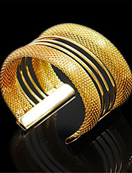cheap -Women's Cuff Bracelet Wide Bangle Cut Out Precious Vintage Alloy Bracelet Jewelry Gold For Party Street Holiday