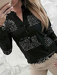 cheap -Women's Daily Shirt - Letter Black