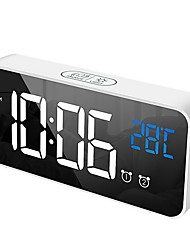 cheap -Compact Digital Alarm Clock with USB Port for Charging, Adjustable Brightness Dimmer, Adjustable Alarm Volume