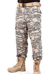 cheap -Men's Camouflage Hunting Pants Thermal / Warm Windproof Breathable Antistatic Spring Summer Fall Camo Shirt Top for Camping / Hiking Hunting Fishing Black ACU Color CP Color S M L XL XXL
