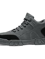 cheap -Men's Combat Boots PU Winter Classic Boots Black / Gray / Khaki