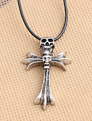 cheap -Men's Pendant Necklace Classic Cross Tiger Unique Design Fashion Chrome Silver 50 cm Necklace Jewelry 1pc For Street