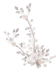 cheap -Alloy Headdress with Rhinestone / Imitation Pearl 1 Piece Wedding / Special Occasion Headpiece