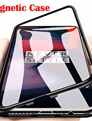 cheap -Single-sided Magnetic Phone Case for Oneplus 7T 7T Pro 7 7 Pro Magnetic Adsorption Metal Tempered Glass Phone Case
