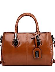 cheap -Women's Glitter / Zipper PU Top Handle Bag Solid Color Black / Brown / Blue