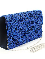 cheap -Women's Sequin Satin Evening Bag Blue