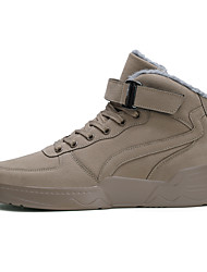 cheap -Men's Combat Boots PU Winter Classic Boots Black / Beige / Gray