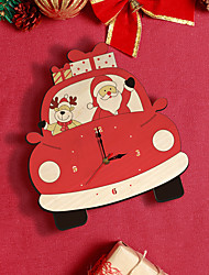 Недорогие -популярный продукт амазонки креативные настенные часы на рождественские украшения время мультфильм рождественские настенные часы
