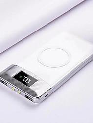 abordables -10000mAh Power Bank Qi Charge sans fil 2 USB LCD LED Chargeur de batterie portable