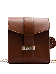 cheap -Women's Chain Polyester / PU Mobile Phone Bag Solid Color Brown / Dark Brown / Red