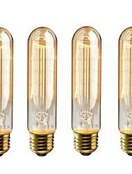 cheap -4pcs 40 W E26 / E27 T10 Warm Yellow 2200 k Incandescent Vintage Edison Light Bulb 220-240 V