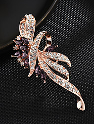 cheap -Women's Brooches Korean Brooch Jewelry Purple Blue For Party Festival