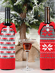 cheap -Wine Bottle Cover Knit 1 Piece Christmas