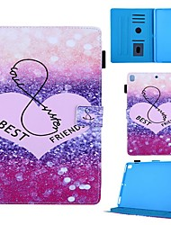 cheap -Case For Apple iPad Air / iPad 4/3/2 / iPad (2018) Card Holder / with Stand / Pattern Full Body Cases Heart PU Leather