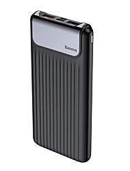 Недорогие -baseus thin qc3.0 mt daul вход цифровой дисплей банк питания 10000 мАч белый