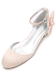 cheap -Women's Wedding Shoes Flat Heel Round Toe Rhinestone / Bowknot Satin Classic / Sweet Spring & Summer / Fall & Winter White / Purple / Champagne / Party & Evening