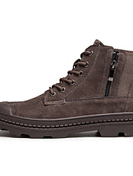 cheap -Men's Comfort Shoes Pigskin Fall & Winter Boots Booties / Ankle Boots Brown / Beige / Khaki