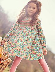 billige -Barn Jente Blomstret Kjole Grønn