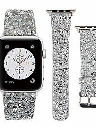 cheap -Apple Watch Leather Band 38mm 40mm 42mm 44mm Woman Bling Glitter Strap Replacement iWatch Series6 SE  5 4 3 2 1 Sport Edition