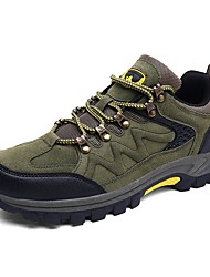 cheap -Men's Suede Shoes Suede Winter Athletic Shoes Hiking Shoes Green / Gray