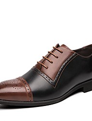 cheap -Men's Formal Shoes Synthetics Spring & Summer / Fall & Winter Casual / British Oxfords Non-slipping Brown / White / Blue
