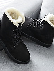 cheap -Women's Boots Snow Boots Creepers Round Toe PU Mid-Calf Boots Winter Black / Red / Beige