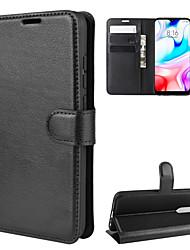 abordables -Coque Pour Xiaomi Redmi Note 8 / Redmi Note 8 Pro Portefeuille / Porte Carte / Antichoc Coque Intégrale Couleur Pleine faux cuir