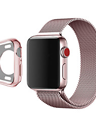 cheap -For Apple Watch Series 5/4/3/2/1 Milanese Steel Loop Band and Soft Tpu Watch Case