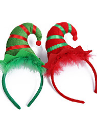 cheap -Santa Claus Masquerade Family Look Kid's Costume Party Christmas Christmas Velvet Headwear