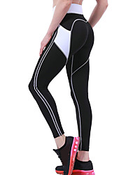cheap -Women's High Waist Yoga Pants Patchwork Pocket Heart White / Black Blue / Black Black / Pink Running Fitness Gym Workout Tights Leggings Sport Activewear Quick Dry Butt Lift Tummy Control High