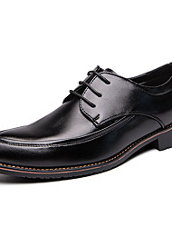 cheap -Men's Formal Shoes Synthetics Spring & Summer / Fall & Winter Casual / British Oxfords Non-slipping Black / Brown