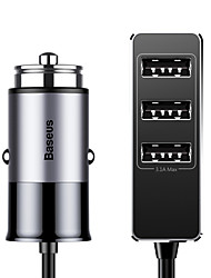 Недорогие -baseus наслаждается вместе четырьмя интерфейсами вывода патульного автомобильного зарядного устройства 5.5a черный / серый