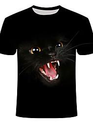 cheap -Men's Daily T-shirt - Animal Black