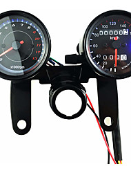 cheap -12V Motorcycle Scooter Black Led Odometer Speedometer Gauge and 13000RPM Tachometer with Bracket