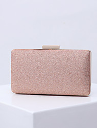 cheap -Women's Bags Polyester Alloy Evening Bag Glitter Solid Color Glitter Shine Fashion Party Wedding Wedding Bags Handbags Chain Bag Sillver Gray Black Blue Purple