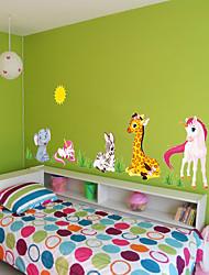 cheap -Decorative Wall Stickers - Plane Wall Stickers / Animal Wall Stickers Abstract / Animals Nursery / Kids Room