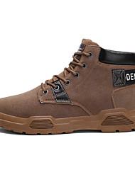 cheap -Men's Combat Boots Cowhide Winter Classic Boots Black / Brown / Gray
