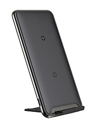 cheap -Baseus Three-coil Wireless Charging PadWith Desktop Holder Black