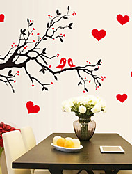 cheap -Branch bird love heart removable living room study bedroom background decoration removable sticker AY7179