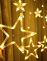 cheap -Star Curtain Lights 12 Stars 138 LED Star String Lights 8 Modes Stardust String Lights LED Curtain Lights for Bedroom Wedding Party Christmas Decoration for Home