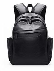 halpa -Suuri tilavuus PU Vetoketjuilla Backpack Päivittäin Musta / Ruskea