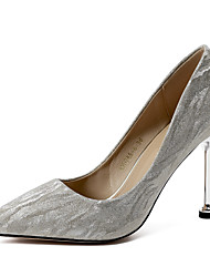 cheap -Women's Heels Stiletto Heel Pointed Toe Satin Sweet / Minimalism Spring & Summer Gold / Silver / Party & Evening