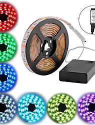 cheap -2M Waterproof LED Strip Lights RGB Tiktok Lights Battery Powered 30 LEDs Per Meter 5050 With 3 Key Mini Controller TV Computer Backlight